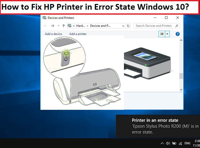 Printer in error state